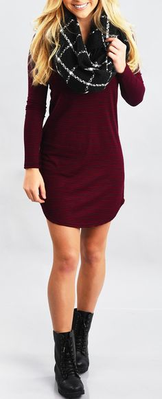Take your breath away now! We have got holiday outfits for you. ONLY $11.99! Looking for winter dress with cute striped style? Come at OASAP.COM hot sale!