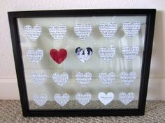 DIY 1 Year Anniversary Gift paper.  Either type out your vows or your first song.