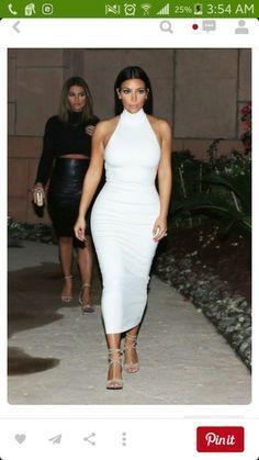 Kim Kardashian, this dress, I need. : Kim Kardashian, this dress, I need. Estilo Kardashian, Kim Kardashian White Dress, Looks Kim Kardashian, Kardashian Style, White Turtleneck Dress, Kylie, Red Carpet Dresses, Harpers Bazaar, Celebrity Dresses