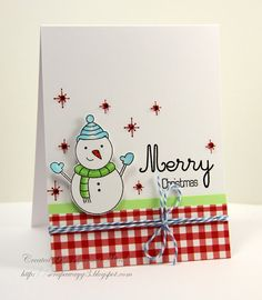 Handmade by G3: Couple of Christmas cards!