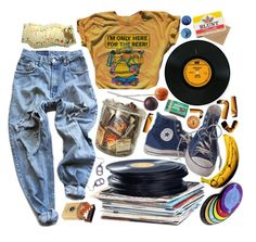 """Ode To Viceroy - Mac DeMarco"" by berniee ❤ liked on Polyvore featuring Converse, Levi's, duty free and Burt's Bees"