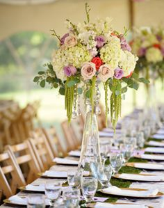 WeddingChannel Galleries: Tall Multicolor Centerpieces