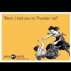 OKC Thunder!! beep out the last word. but still funny!