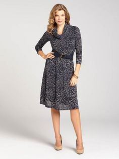 Never go a day without worrying how to accessorize again! With this perfect-for-Fall knit dress, you've got both a matching infinity scarf and waist belt, creating a laidback look for the work week or a casual weekend!...3030101-0200