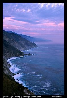 Coast at sunset. Big Sur, California
