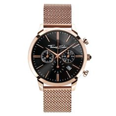 THOMAS SABO Rebel at heart rose gold-toned stainless steel watch dc43786c2a