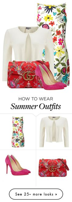 """Outfit Only- Work Wear"" by lilarose111 on Polyvore featuring Trina Turk, Phase Eight, Gucci and Christian Louboutin"