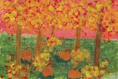 Cassidee Millard, a sixth-grader at Marshall Middle School in Janesville, created this fall painting using tempera paints.