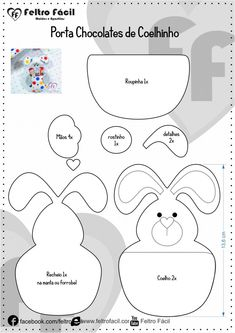 Easter Bunny Card Template Free Download Craft Easter