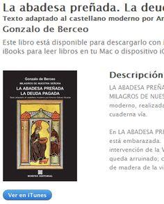 Ebook La abadesa preñada. La deuda pagada, de Gonzalo de Berceo, al castellano moderno, en ibookstore