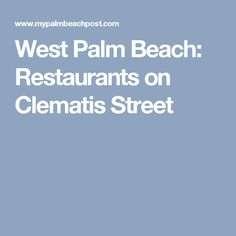 West Palm Beach: Restaurants on Clematis Street
