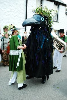 The ancient custom of May Horns celebrated in Penzance, Cornwall - http://www.cornishculture.co.uk/images1/old_ned.jpg