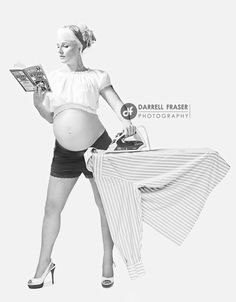 Pin-up maternity photoshoots, all the rage among expecting women who just love conservative gender roles and wearing super cute heels.