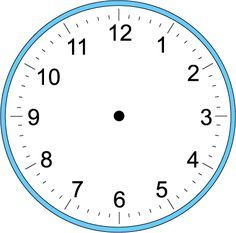 Large Blank Clock Template   Handwriting for Kids - Math - Time - Craft Clock - Make Your Own Clock