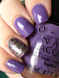 OPI A Grape Fit! and Mad As a Hatter...love this purple