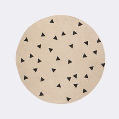 Round Jute Rug - Triangles