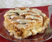 Gooey Stuffed Cinnamon Roll Bake