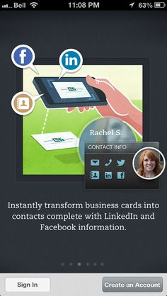Convert Business cards into contacts complete with Linked In Info