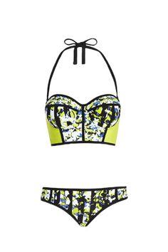 b4be44e40b74d Peter Pilotto for Target Bikini Top in Green White Print