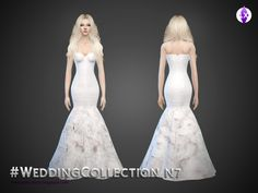 This is the seventh dress of my Wedding collection! You can find every link to the CC used in the notes. Found in TSR Category 'Sims 4 Female Formal'