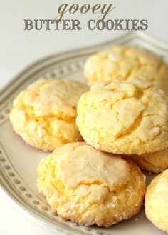 We love these Gooey Butter Cookies - so easy and so yummy!