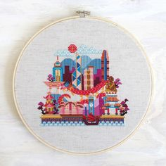 Pretty Little Hong Kong - Modern Cross Stitch Pattern PDF - Instant download by SatsumaStreet on Etsy https://www.etsy.com/listing/236167965/pretty-little-hong-kong-modern-cross