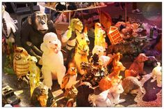 A whole zoo made of plastic.