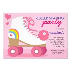 Free Roller Disco Party Invitation Templates