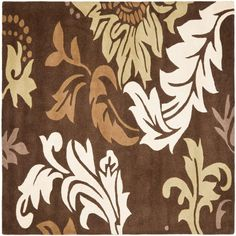 Safavieh Soho Brown/Multi 6 ft. x 6 ft. Square Area Rug-SOH831B-6SQ - The Home Depot