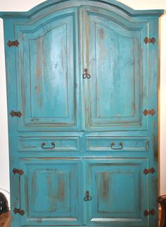 Laura Ashley Deep turquoise Paint from Lowes, Semi -gloss --- in case I ever work up the courage to paint my rustic furniture Decor, Redo Furniture, Painted Furniture, Furniture Decor, Furniture Diy, Rustic Furniture, Paint Furniture, Modern Furniture Decor, Vintage Armoire
