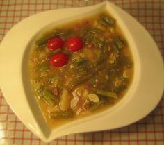 Suppe von grünen Bohnen
