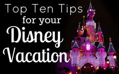 Top Ten Tips for Visiting Disney World. I have to say thought that I disagree with the one about splitting the day. I for one never get tired or grumpy at all (except for the bus ride home to the resort.) If the kids are tired I say let them sleep in their awesome strollers haha!
