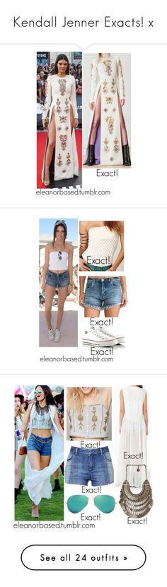 """""""Kendall Jenner Exacts! x"""" by ohsnapitzblanca ❤ liked on Polyvore featuring FAUSTO PUGLISI, DailyFind, kendalljenner, Free People, BLANKNYC, Converse, Ray-Ban, Somedays Lovin, IRO and Kendall + Kylie"""