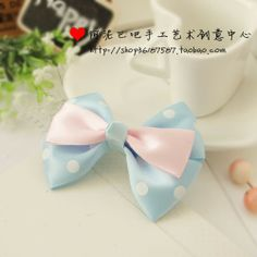 Xiaonan hand 8CM fresh spring bow barrette hair ring hair accessories Korean ribbons