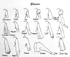 different types of sleeves - dolman is the same as batwing