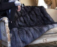 SAGA Blue Frost Fox Bed Throw