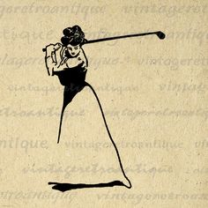 Golfer Lady Digital Printable Download Golf Image Illustration Graphic Antique Clip Art. High resolution, high quality digital graphic download for iron on transfers, printing, tote bags, t-shirts, and more. Real antique clip art. Personal or commercial use. This image is high quality and high resolution at size 8½ x 11 inches. Transparent background version included with every digital image.