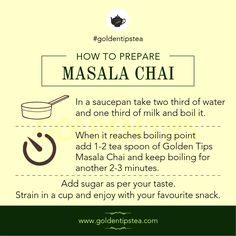 This #winter get ready to fight #infection. Buy our #masala #chai containing 100% natural green Cardamom, Cinnamon, Clove & Black Pepper. Golden Tips Teas