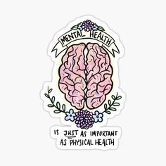 High quality Mental Health gifts and merchandise. Inspired designs on t-shirts, posters, stickers, home decor, and more by independent artists and designers from around the world. Mental Health Quotes, Mental Health Awareness, Tumblr Stickers, Cute Stickers, Psychology Wallpaper, Aesthetic Stickers, Sticker Design, Sticker Shop, Love Gifts