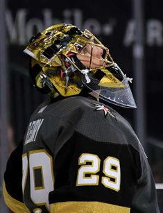 LAS VEGAS, NV - DECEMBER 23: Marc-Andre Fleury #29 of the Vegas Golden Knights takes a break during a stop in play in the second period of a game against the Washington Capitals at T-Mobile Arena on December 23, 2017 in Las Vegas, Nevada. The Golden Knights won 3-0. (Photo by Ethan Miller/Getty Images)
