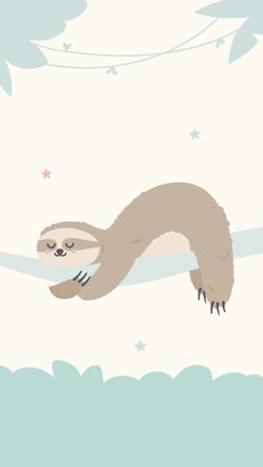 Cute Backgrounds For Iphone, Cute Wallpaper Backgrounds, Animal Wallpaper, Cute Wallpapers, Wallpaper Iphone Disney, Kawaii Wallpaper, Cellphone Wallpaper, Mr Wonderful, Cute Sloth