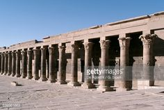 West portico of Temple of Isis at Philae (UNESCO World Heritage List, 1979), Agilkia Island, Aswan, Egypt, Egyptian civilization