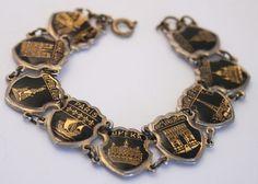 Vintage Paris bracelet.  Black and gold by chicvintageboutique, $45.00