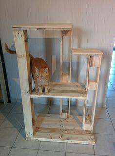 arbre à chat palettes bois wood cat réemploi