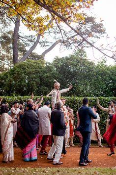 Fusion Indian Wedding Procession - Baraat | @HilaryCam Photography | @kateaspen