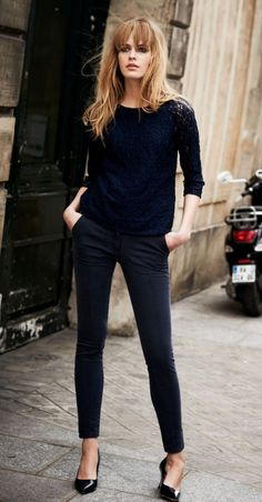 Shopping Q&A: Where Can I Find Everyday Black Skinny Pants? Personal shopping Q&A: where can I find black skinny pants that look similar to these? Find out: … Outfits Inspiration, Outfit Trends, Style Inspiration, Fashion Over 40, Work Fashion, Fashion Gal, Luxury Fashion, Fashion Check, Cheap Fashion