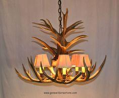"jewelry made from deer antler | Custom Mule Deer Antler Chandelier ""Twin Arrows"" by New Hickory Works ..."