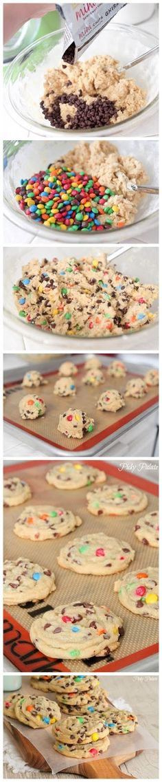Perfect M&M's cookies