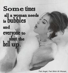 You tell ass black women bubble bath