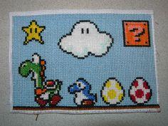 mario cross stitch | Sprite Stitch Board! • View topic - Yoshi cross stitch
